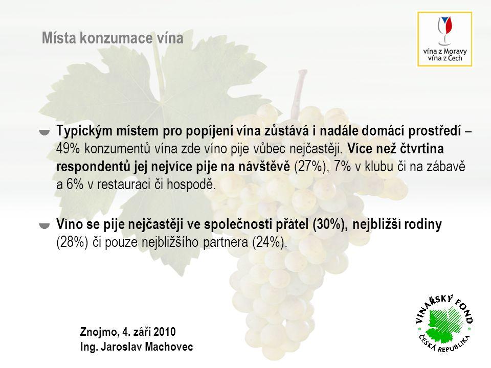 Místa konzumace vína