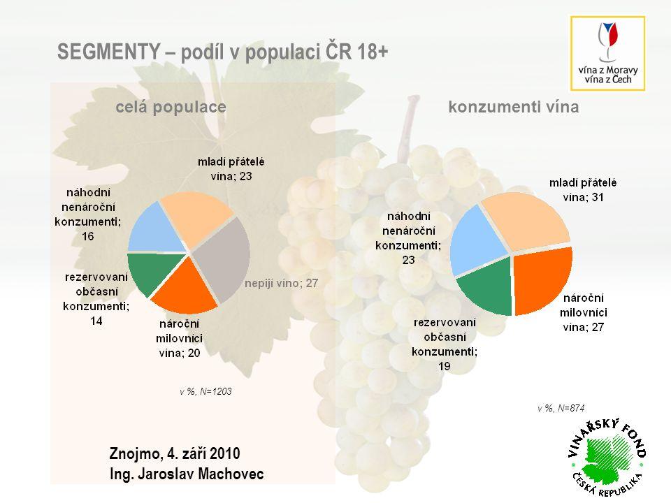 SEGMENTY – podíl v populaci ČR 18+