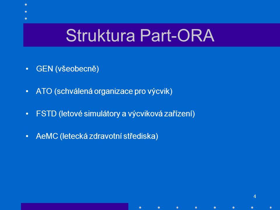 Struktura Part-ORA GEN (všeobecně)