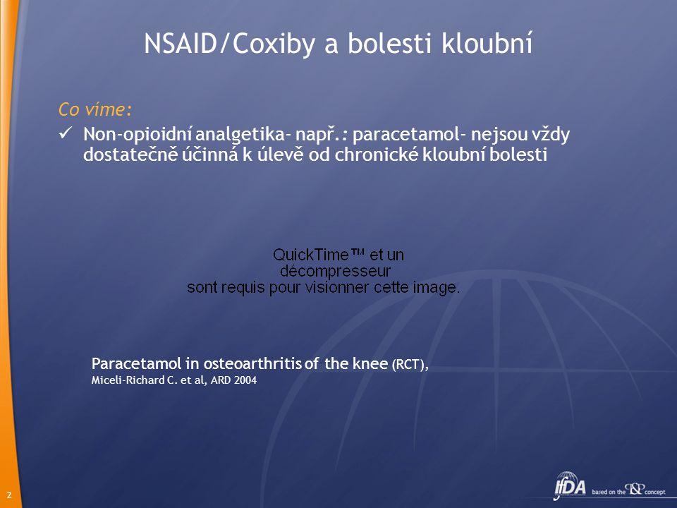 NSAID/Coxiby a bolesti kloubní