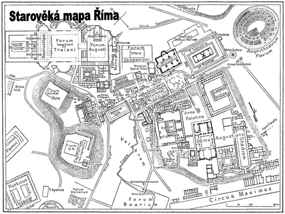 Starověká mapa Říma