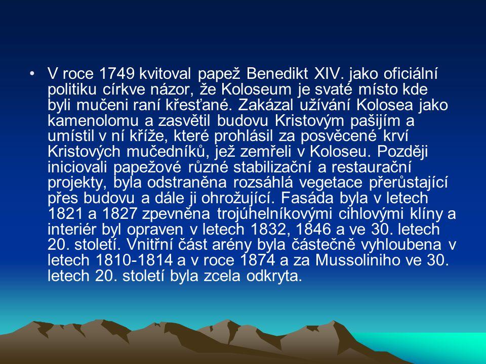 V roce 1749 kvitoval papež Benedikt XIV