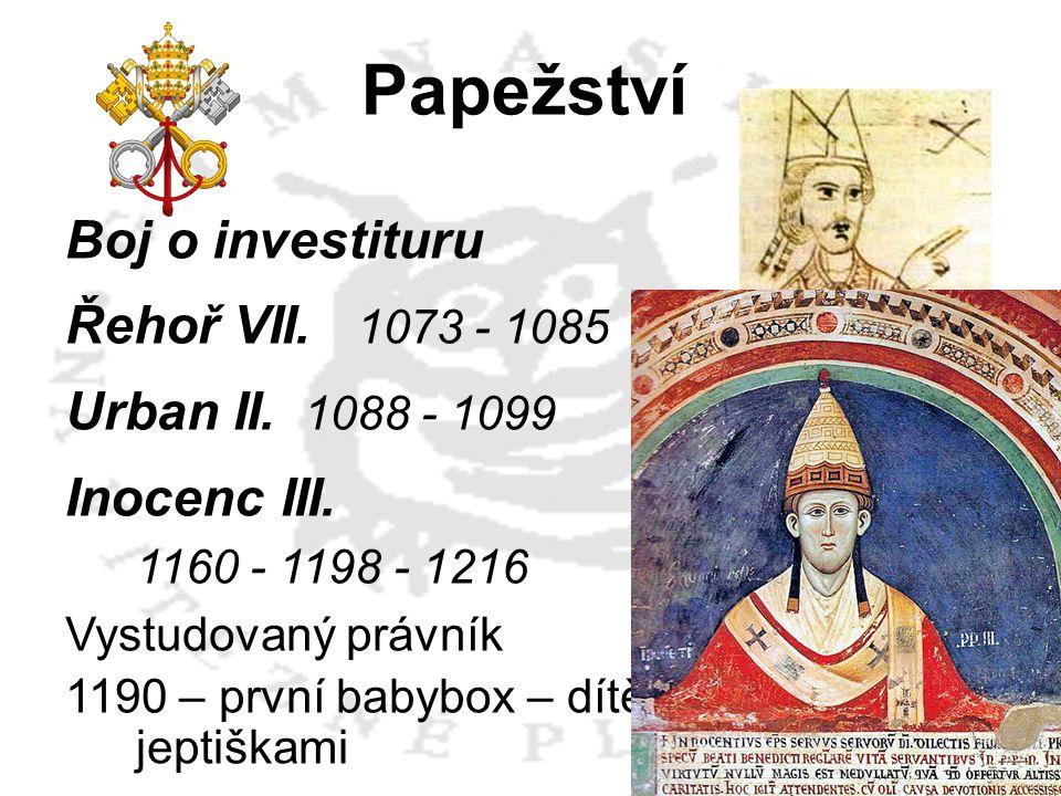 Papežství Boj o investituru Řehoř VII. 1073 - 1085