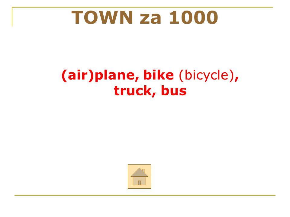 (air)plane, bike (bicycle),