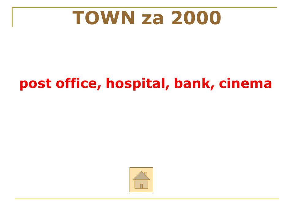 TOWN za 2000 post office, hospital, bank, cinema 16