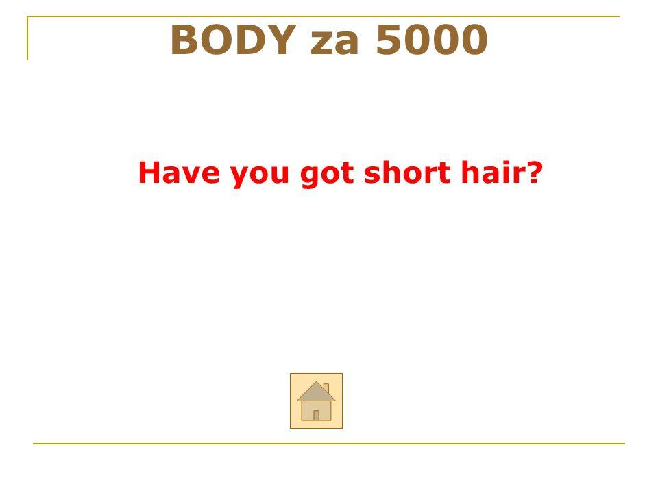 BODY za 5000 Have you got short hair 42