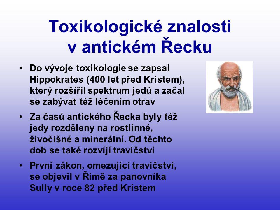 Toxikologické znalosti v antickém Řecku