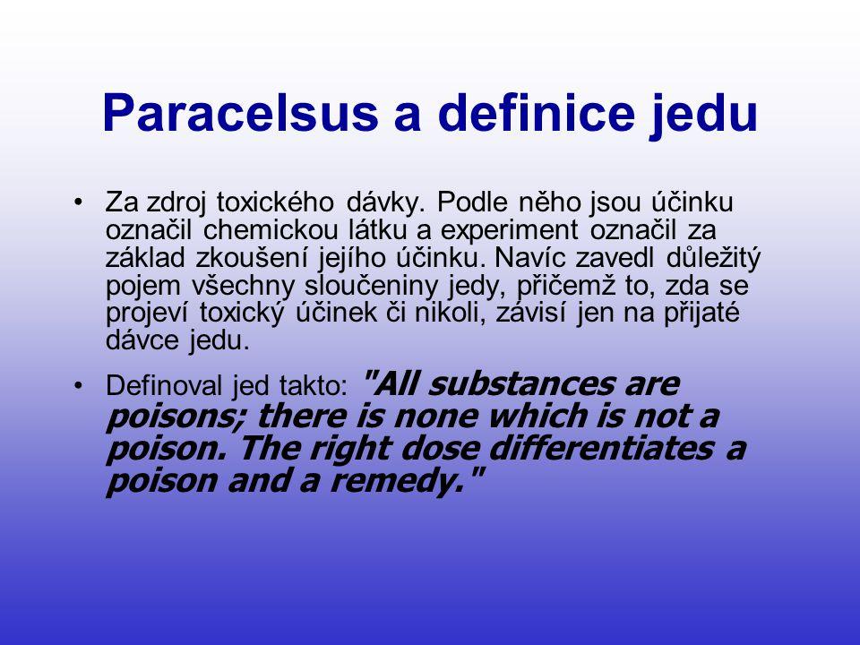 Paracelsus a definice jedu