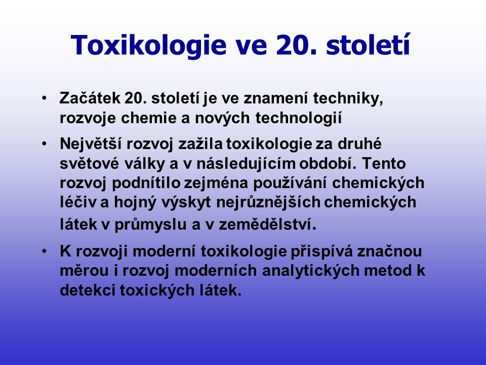 Toxikologie ve 20. století
