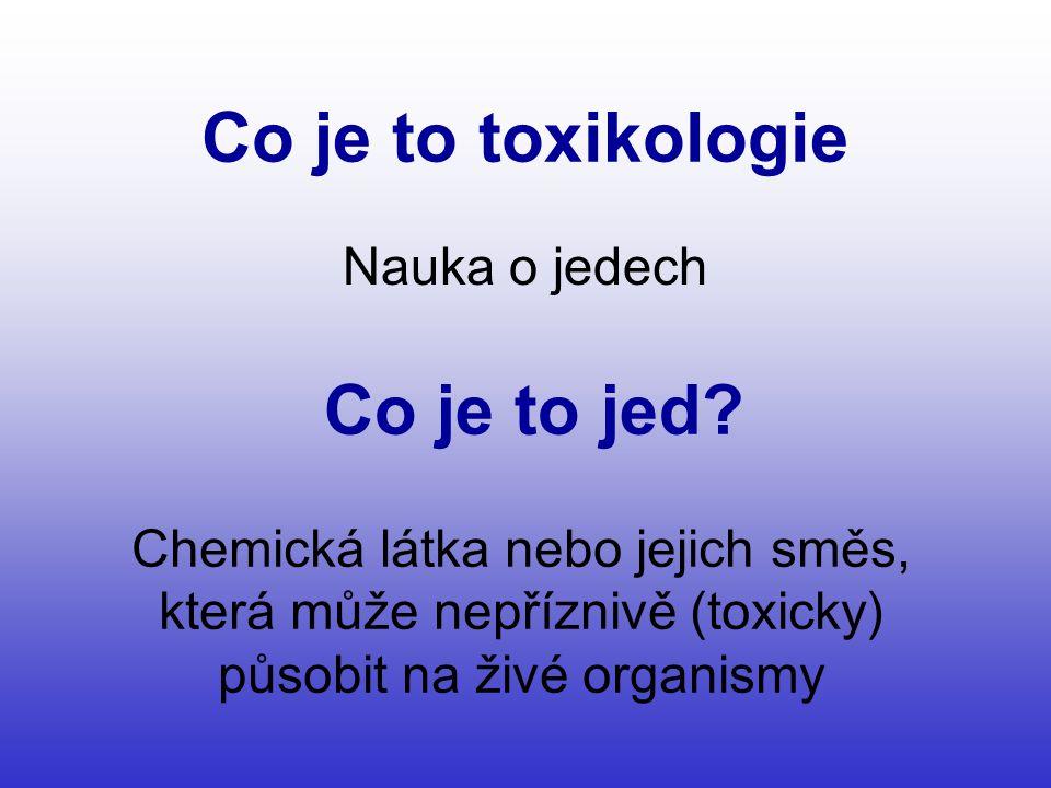 Co je to toxikologie Co je to jed
