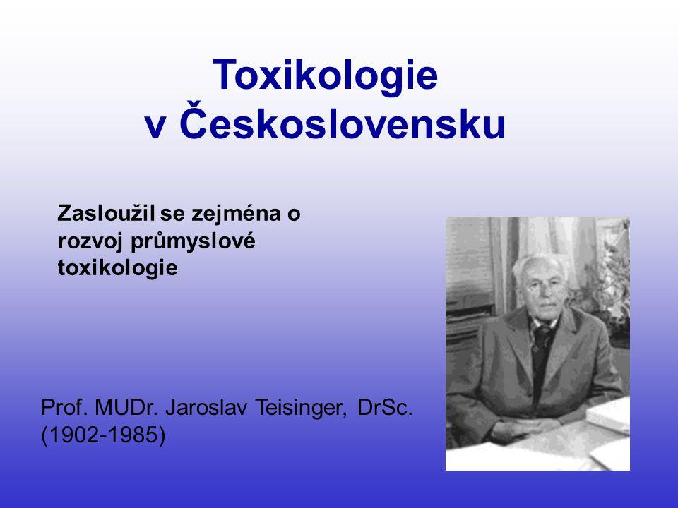 Toxikologie v Československu
