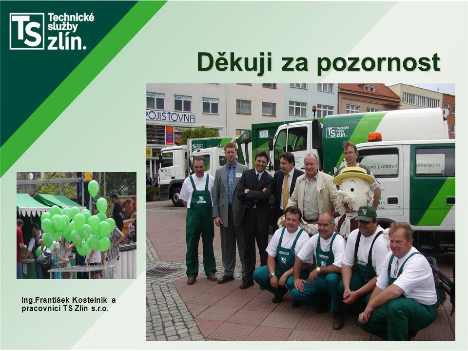 Děkuji za pozornost Ing.František Kostelník a pracovníci TS Zlín s.r.o.