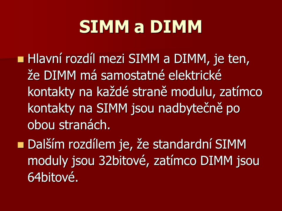 SIMM a DIMM