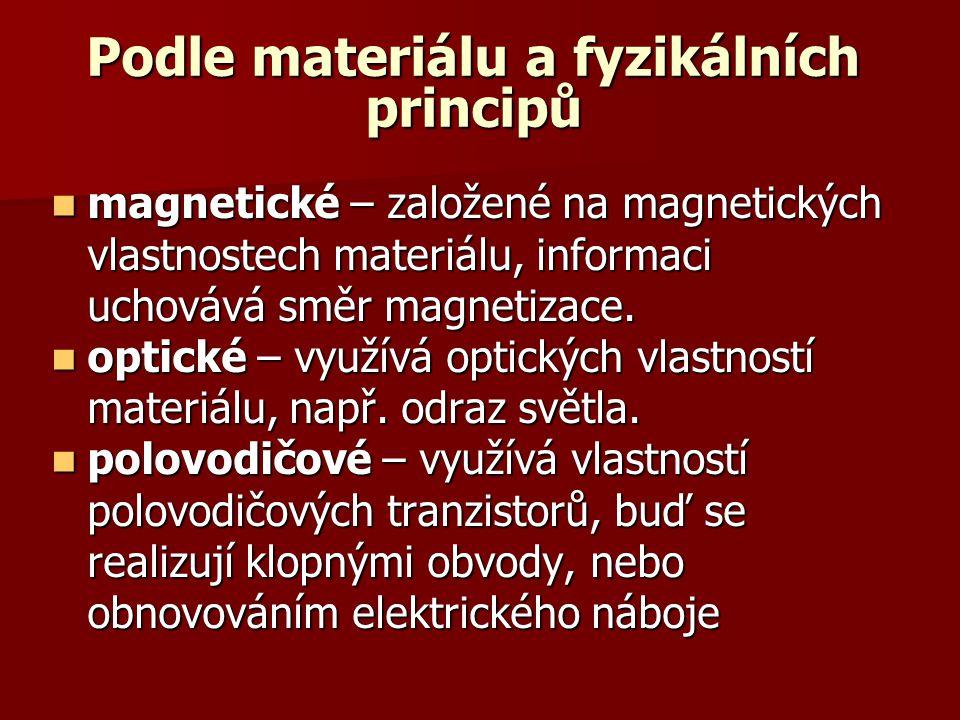 Podle materiálu a fyzikálních principů