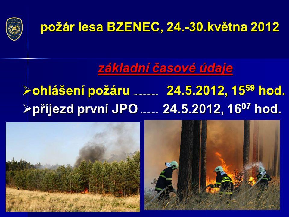 požár lesa BZENEC, 24.-30.května 2012