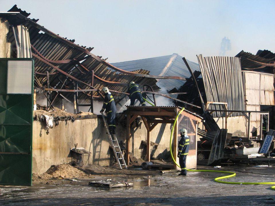 Požár dřevovýroby, Luleč okr. Vyškov