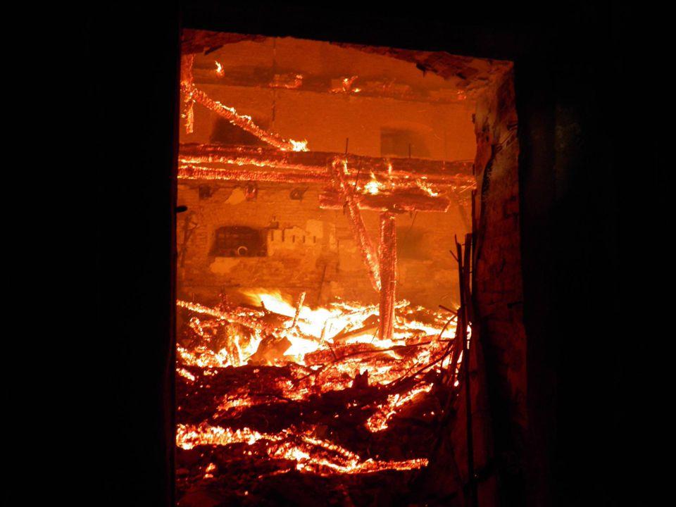 Požár bývalé sýpky, Čejč okr. Hodonín