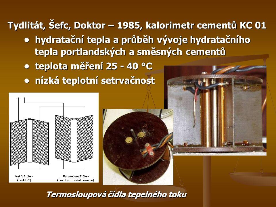 Tydlitát, Šefc, Doktor – 1985, kalorimetr cementů KC 01