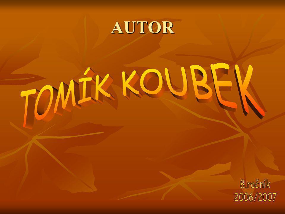 AUTOR TOMÍK KOUBEK 8.ročník 2006/2007