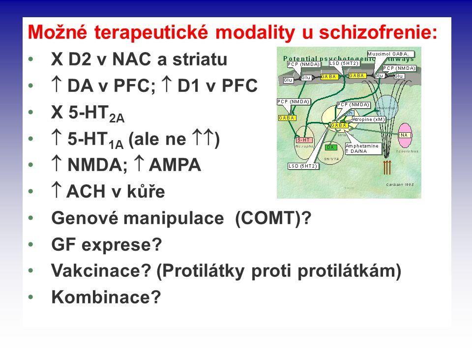 Možné terapeutické modality u schizofrenie: