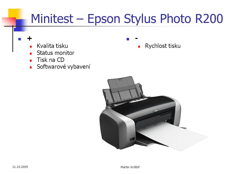 Minitest – Epson Stylus Photo R200