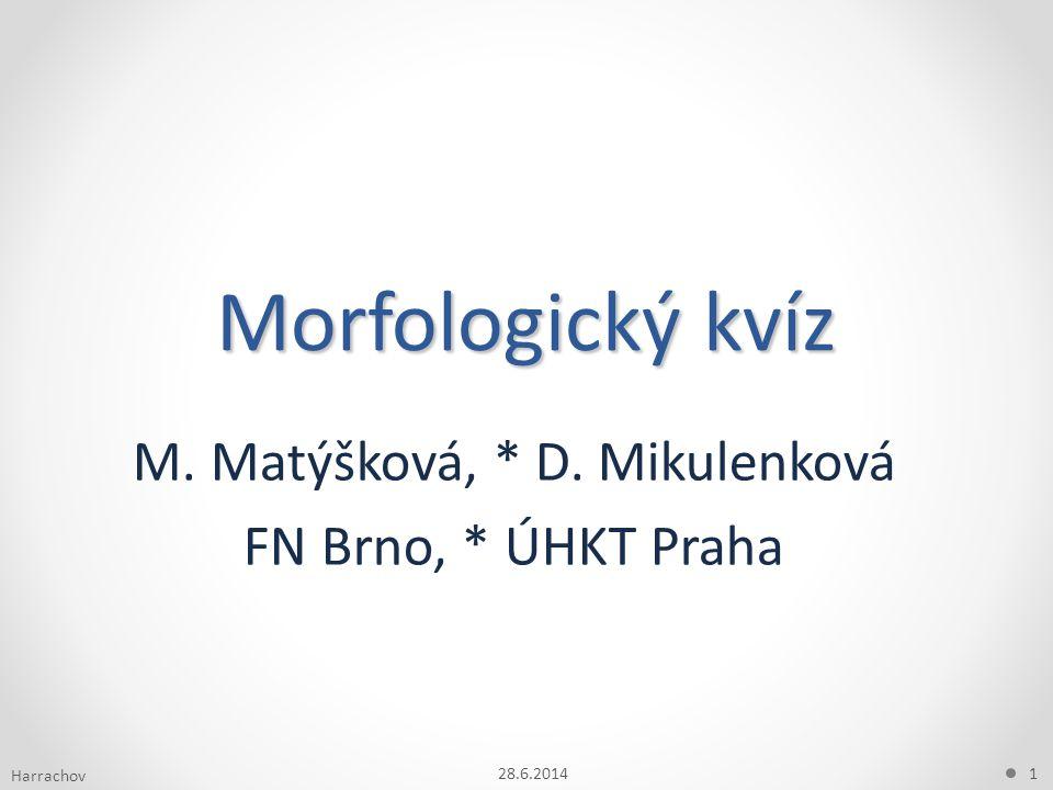 M. Matýšková, * D. Mikulenková FN Brno, * ÚHKT Praha