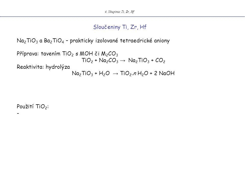 Na2TiO3 + H2O → TiO2.n H2O + 2 NaOH