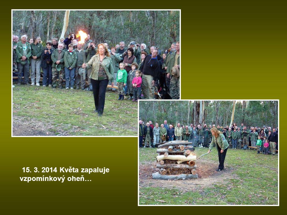 15. 3. 2014 Květa zapaluje vzpomínkový oheň…