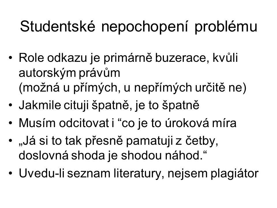 Studentské nepochopení problému
