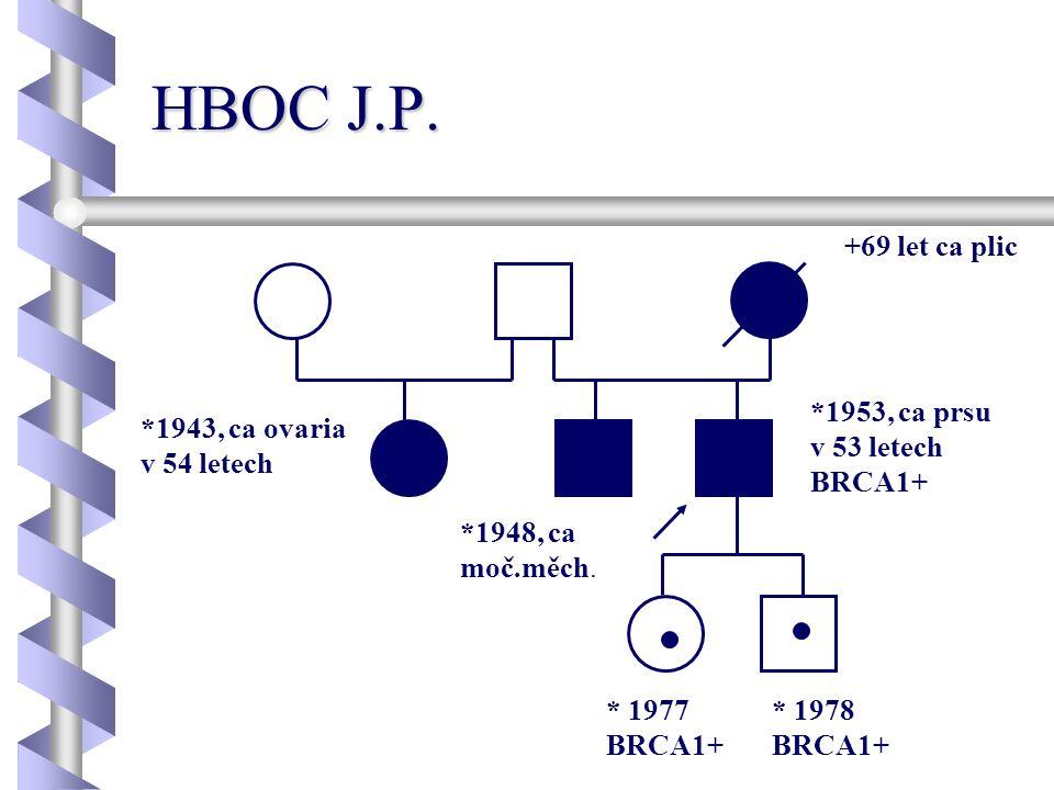 HBOC J.P. +69 let ca plic *1953, ca prsu v 53 letech BRCA1+