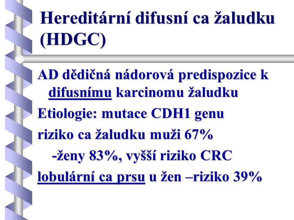 Hereditární difusní ca žaludku (HDGC)