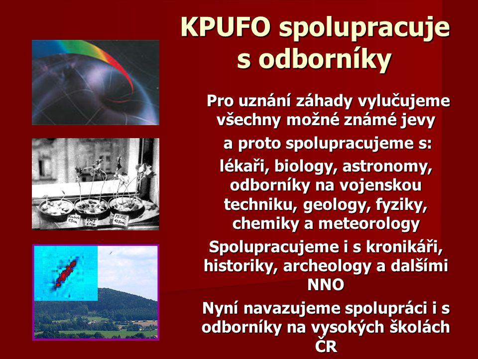 KPUFO spolupracuje s odborníky
