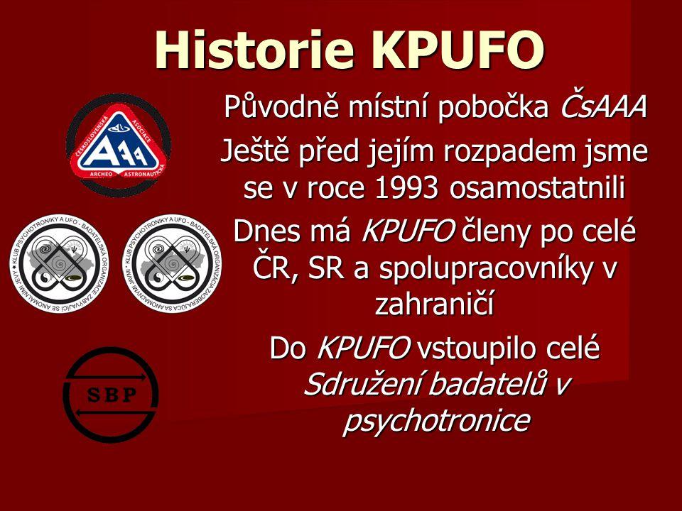 Historie KPUFO Původně místní pobočka ČsAAA