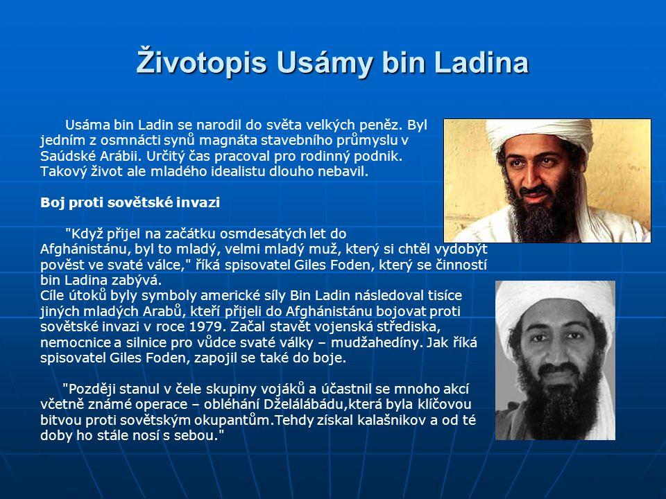 Životopis Usámy bin Ladina