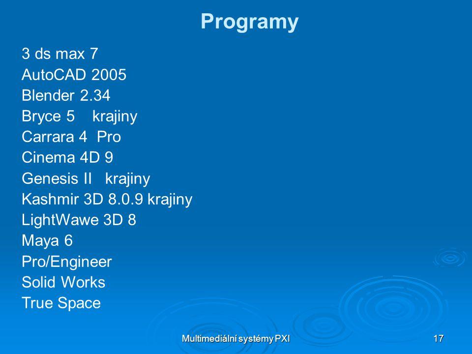 Multimediální systémy PXI