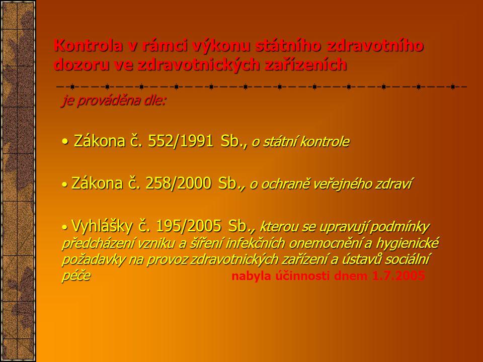 Zákona č. 552/1991 Sb., o státní kontrole