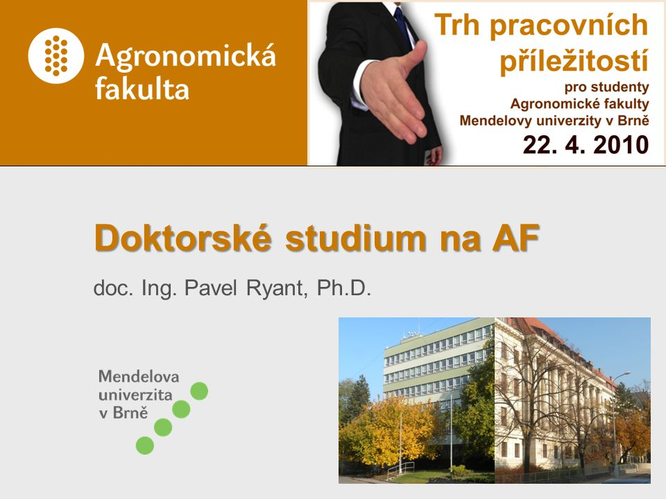 Doktorské studium na AF