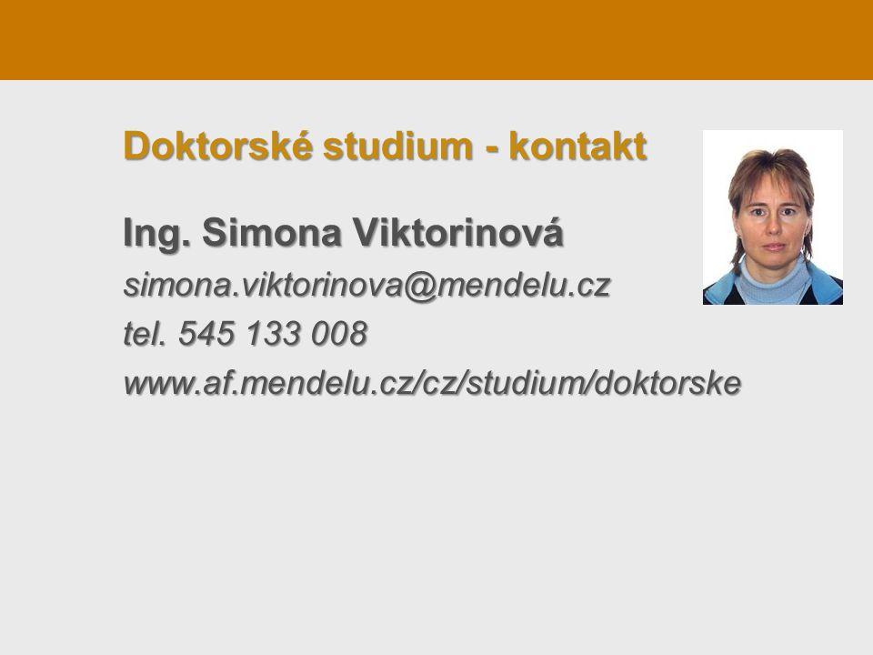 Doktorské studium - kontakt