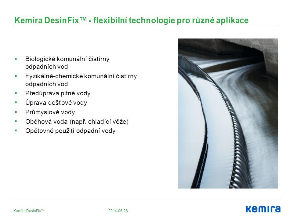 Kemira DesinFix™ - flexibilní technologie pro různé aplikace
