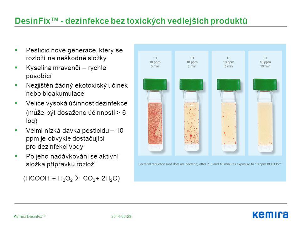 DesinFix™ - dezinfekce bez toxických vedlejších produktů
