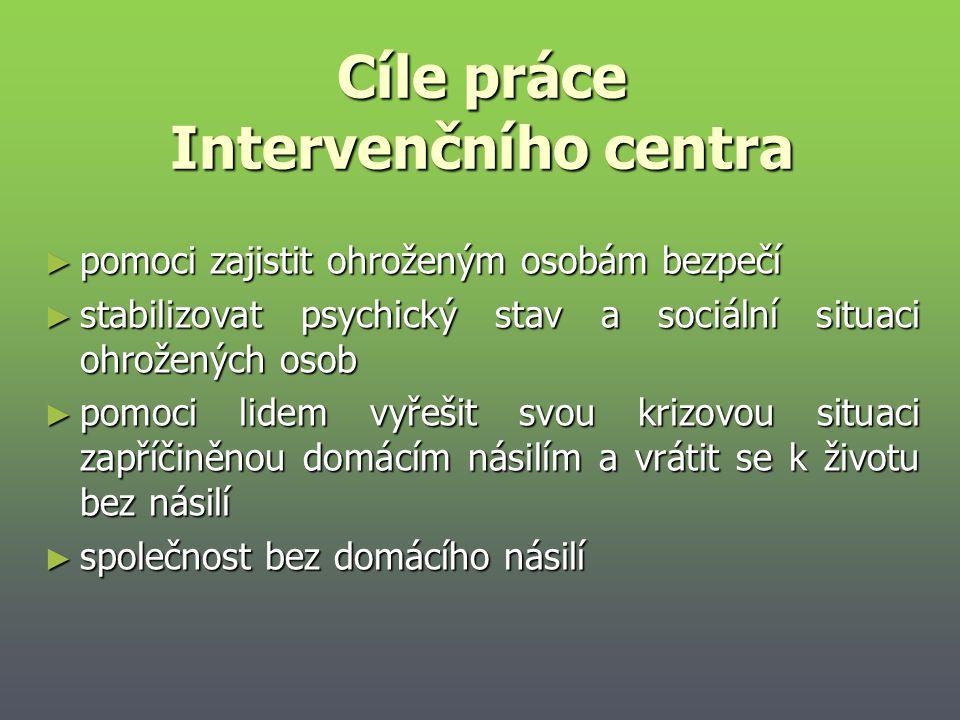 Cíle práce Intervenčního centra