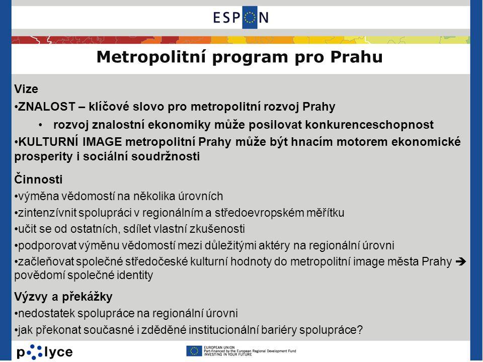 Metropolitní program pro Prahu