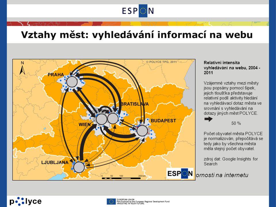 Vztahy měst: vyhledávání informací na webu