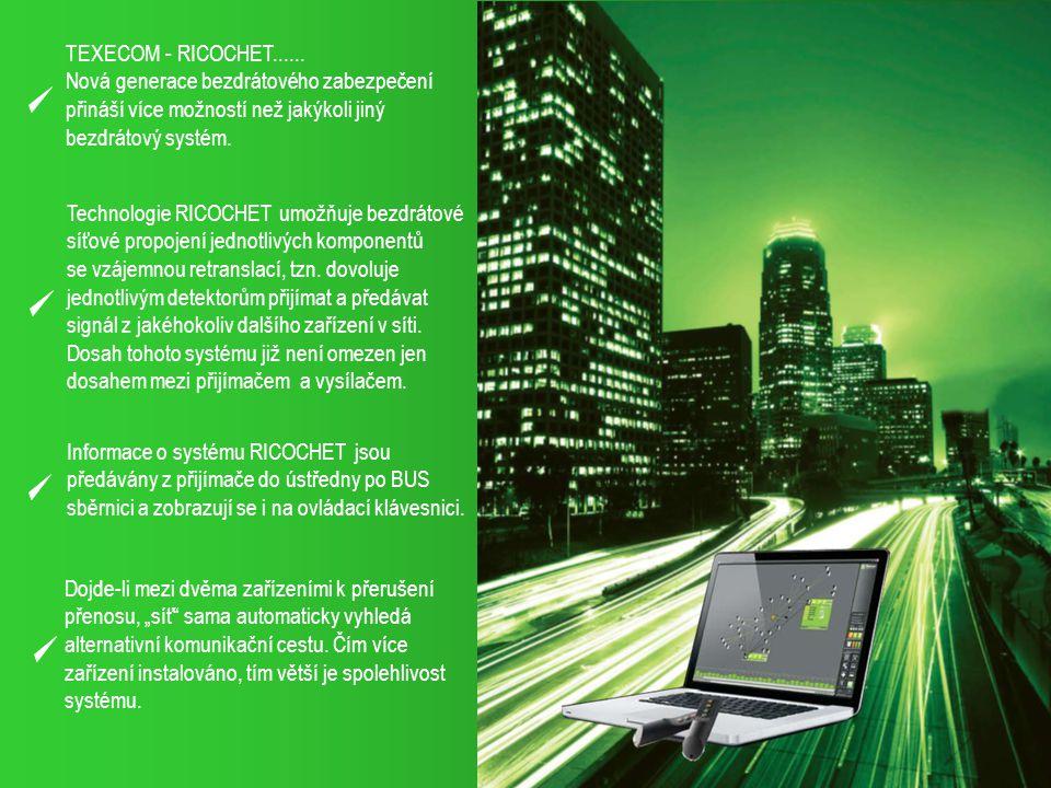 TEXECOM - RICOCHET...... Nová generace bezdrátového zabezpečení. přináší více možností než jakýkoli jiný.