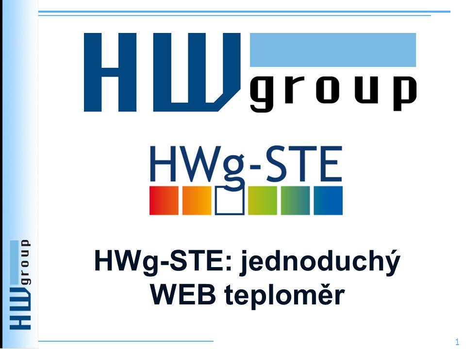 HWg-STE: jednoduchý WEB teploměr