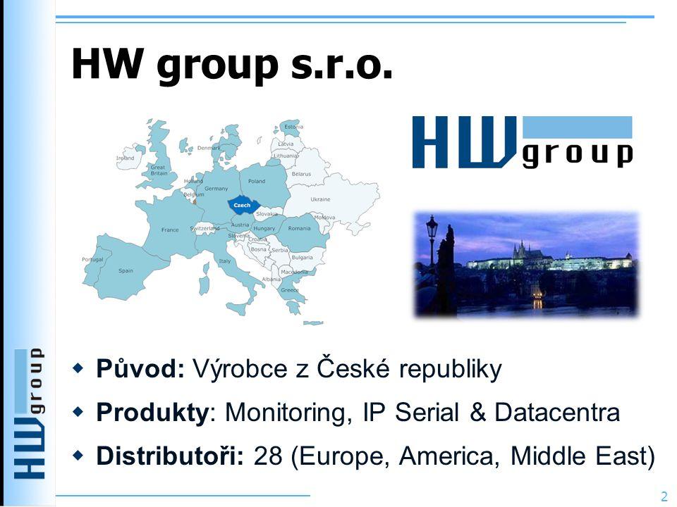 HW group s.r.o. Původ: Výrobce z České republiky