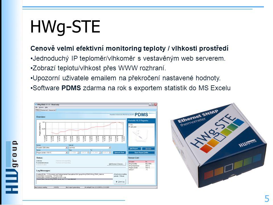 HWg-STE Cenově velmi efektivní monitoring teploty / vlhkosti prostředí
