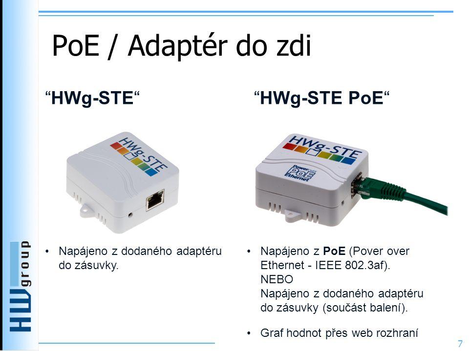 PoE / Adaptér do zdi HWg-STE HWg-STE PoE