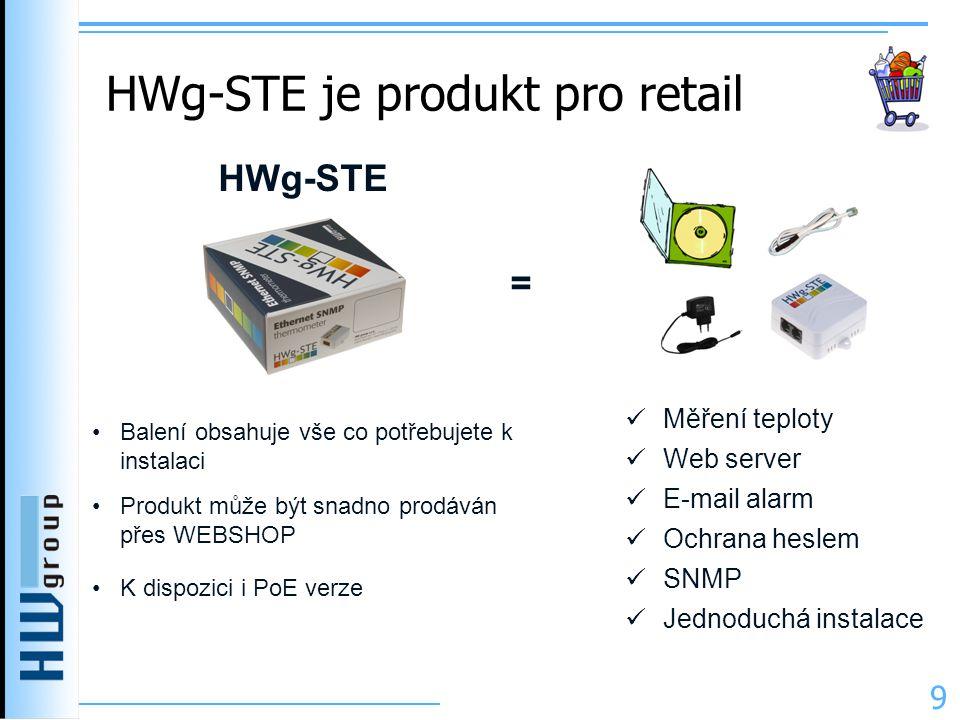 HWg-STE je produkt pro retail