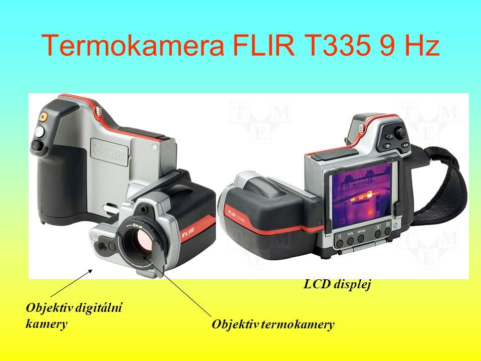 Termokamera FLIR T335 9 Hz LCD displej Objektiv digitální kamery